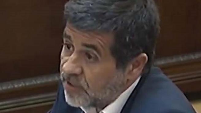 Jordi Sànchez en el juicio por el 'procés' en el Tribunal Supremo.