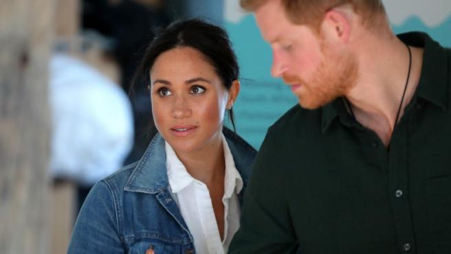 Meghan Markle y el príncipe Harry en Ciudad del Cabo, Sudáfrica.