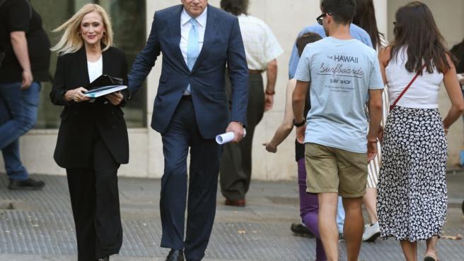Cristina Cifuentes a su llegada a la Audiencia Nacional para declarar como investigada.