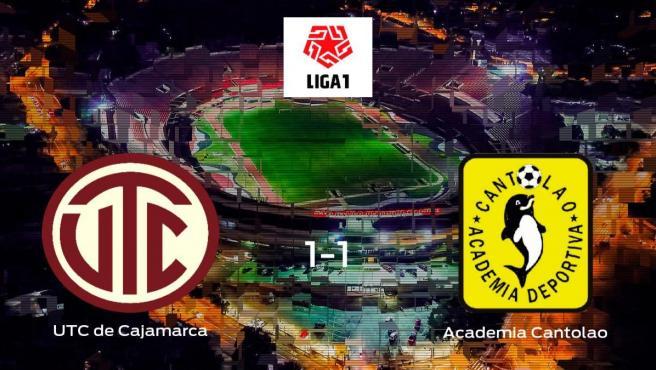 El UTC de Cajamarca y el Academia Cantolao se reparten los puntos en el Estadio Heroes de San Ramon (1-1)