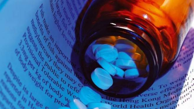 Medicamentos en forma de pastillas.