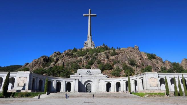 Vista del Valle de los Caídos, situado en el municipio madrileño de San Lorenzo de El Escorial. El Supremo ha dado luz verde a la exhumación de Franco de este lugar.
