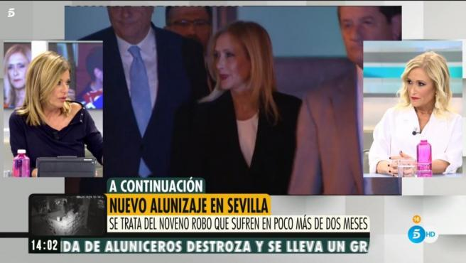 Cristina Cifuentes comenta la actualidad en 'Ya es Mediodía'.