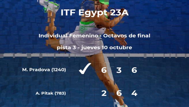 Inesperada victoria de Martina Pradova en los octavos de final del torneo de Sharm El Sheikh
