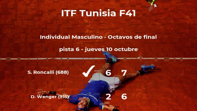 Simone Roncalli se clasifica para los cuartos de final del torneo de Tabarka
