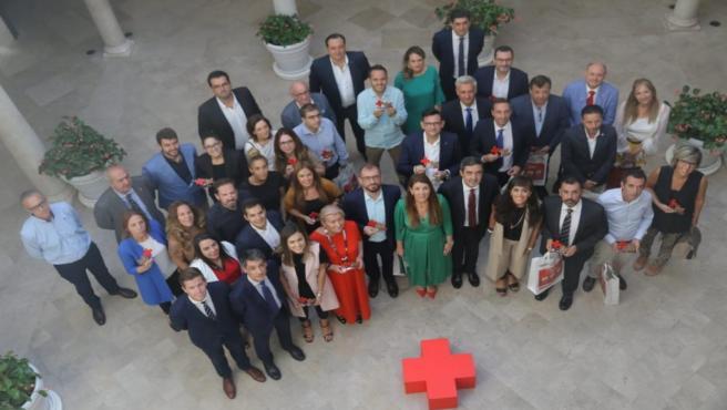 Acto de reconocimiento a empresas solidarias de Cruz Roja Málaga