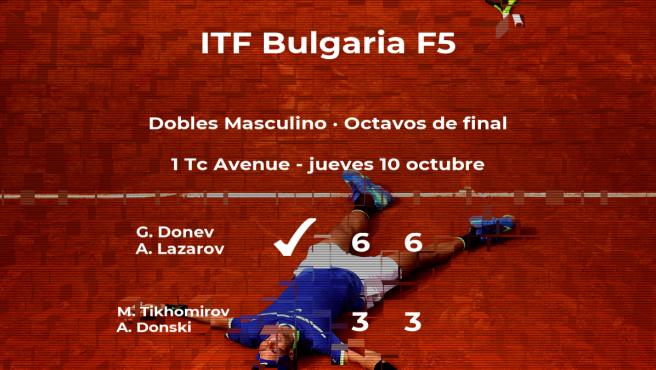 Los tenistas Tikhomirov y Donski se despiden del torneo de Burgas