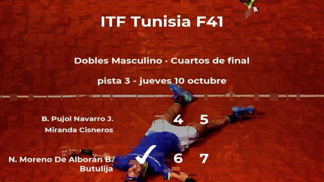 Los tenistas Moreno De Alborán y Butulija se imponen en los cuartos de final del torneo de Tabarka