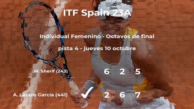 La tenista Andrea Lázaro García se clasifica para los cuartos de final del torneo de Ribarroja del Turia