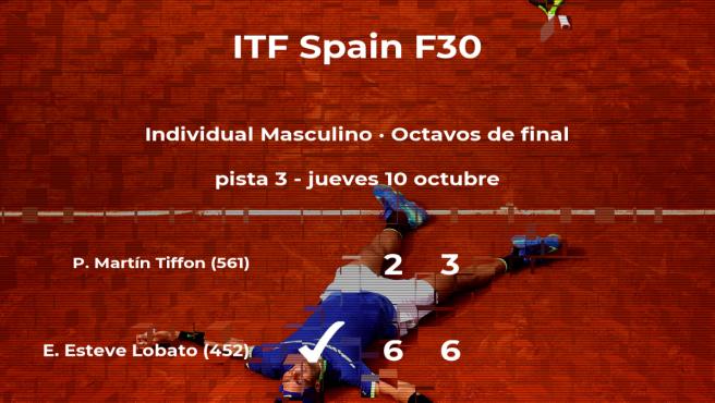 Eduard Esteve Lobato consigue la plaza de los cuartos de final a expensas del tenista Pol Martín Tiffon