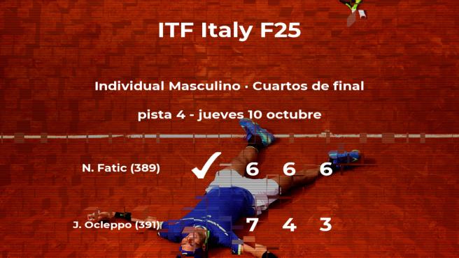 El tenista Nerman Fatic, clasificado para las semifinales del torneo de Santa Margherita Di Pula