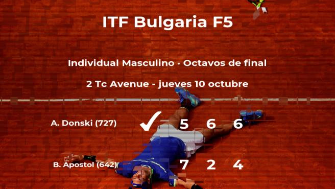 Alexander Donski se clasifica para los cuartos de final del torneo de Burgas