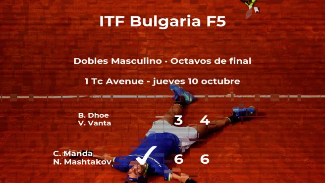 Manda y Mashtakov estarán en los cuartos de final del torneo de Burgas