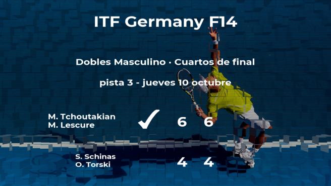 Schinas y Torski se despiden del torneo de Bad Salzdetfurth