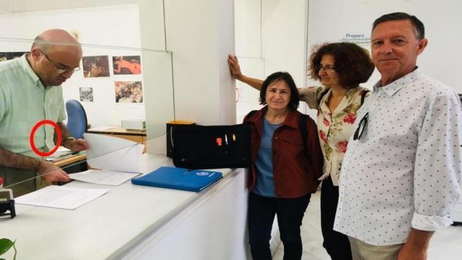 Presentación de la petición para la exhumación de víctimas del franquismo en Dos Hermanas