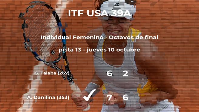 La tenista Anna Danilina consigue la plaza de los cuartos de final a expensas de la tenista Gabriela Talaba