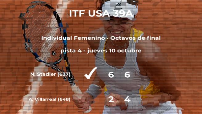 La tenista Nina Stadler, clasificada para los cuartos de final del torneo de Hilton Head Island