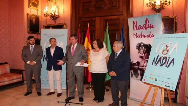 Presentación de la Copa Nadia de tenis