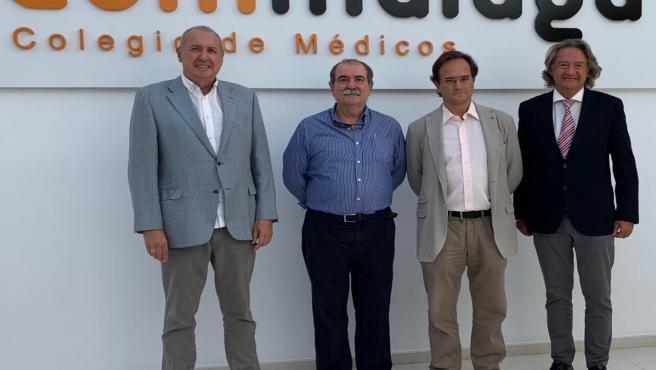 Antonio Souviron, Andrés Buforn, José Luis de la Fuente y Gabriel Arrabal (de izquierda a derecha)