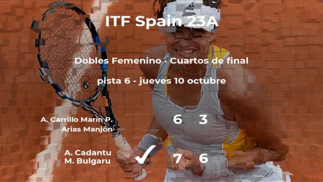 Cadantu y Bulgaru le arrebatan la plaza de las semifinales a Carrillo Marín y Arias Manjón