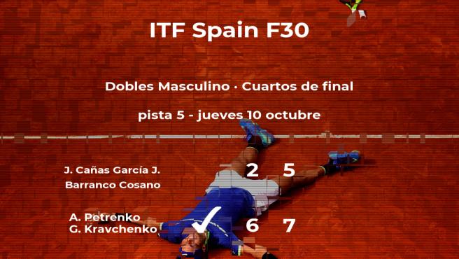 Los tenistas Petrenko y Kravchenko se clasifican para las semifinales del torneo de Ribarroja del Turia