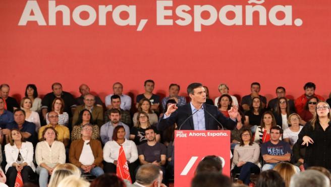 Acto político socialista en Teruel (Aragón)