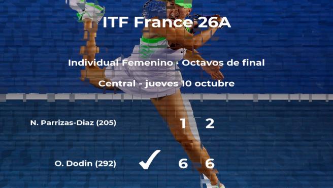 Nuria Parrizas-Diaz se queda a las puertas de los cuartos de final del torneo ITF France 26A