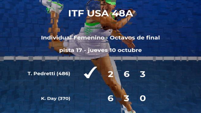 La tenista Thaisa Grana Pedretti logra el puesto de los cuartos de final a costa de Kayla Day