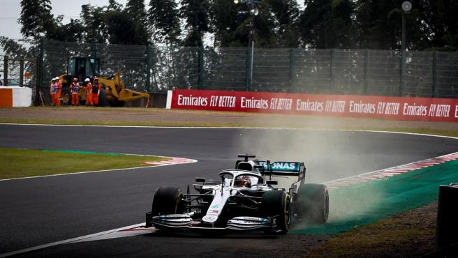 Lewis Hamilton, durante los libres del GP de Japón.