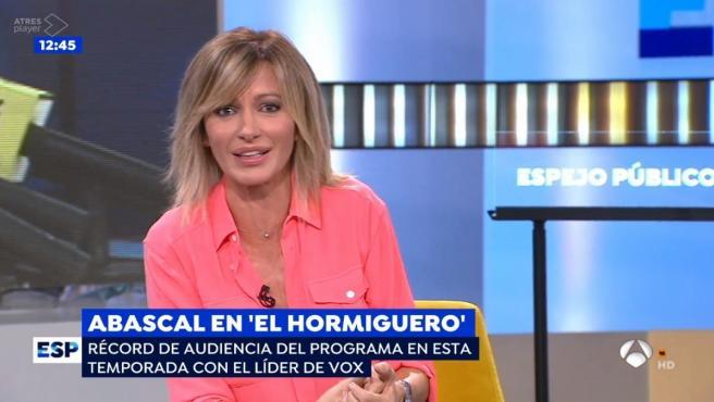 Susanna Griso, presentadora de 'Espejo Público'.