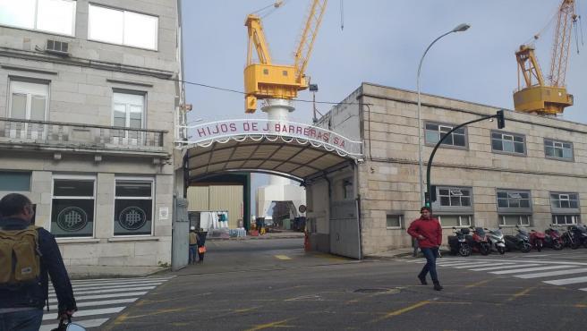 Entrada del astillero Hijos de J.Barreras en Vigo