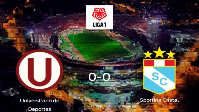 El Universitario de Deportes y el Sporting Cristal se reparten los puntos tras su empate a cero