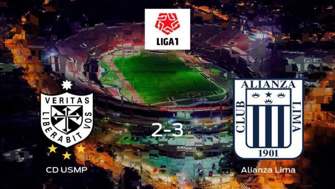 Victoria del Alianza Lima ante el CD USMP (2-3)
