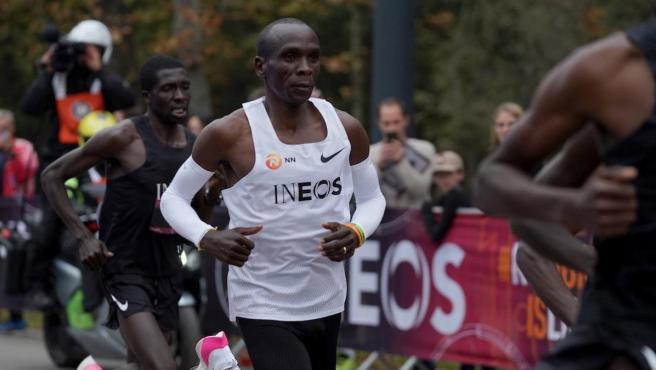 Eliud Kipchoge, duante el INEOS 1:59 Challenge en el que hizo un maratón en menos de dos horas.