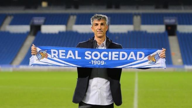"""Imanol Alguacil: """"Messi no encajaría en la Real Sociedad"""""""