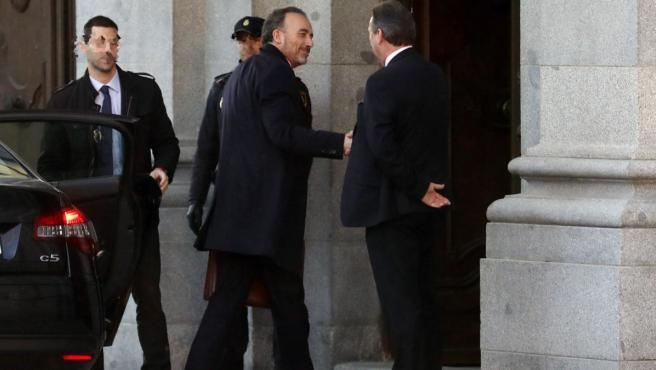 El juez Manuel Marchena llegando al Tribunal Supremo.