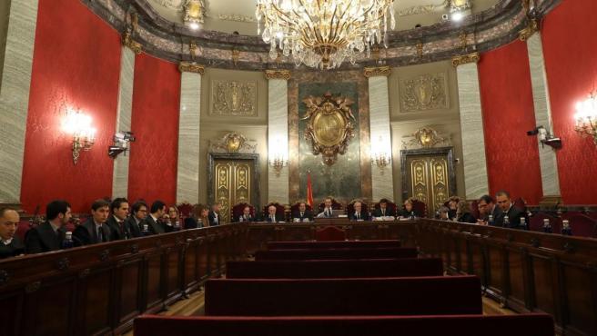 Imagen de la sala del Tribunal Supremo donde se ha celebrado el juicio del procés.
