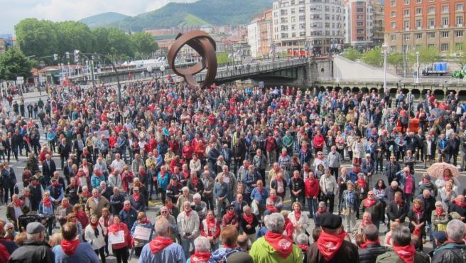 Una protesta de pensionistas vascos en 2019 en Bilbao.