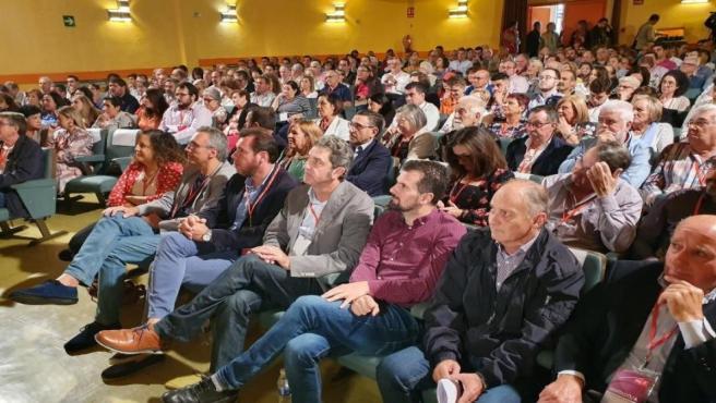 Iratxe García, Javier Izquierdo, Óscar Puente, Manuel Escarda y Luis Tudanca en el Congreso Provincial Extraordinario del PSOE de Valladolid.
