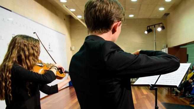 Alumnos de enseñanzas musicales.
