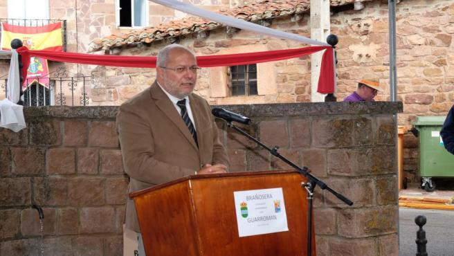 El vicepresidente de la Junta, Francisco Igea, en Brañosera (Palencia).