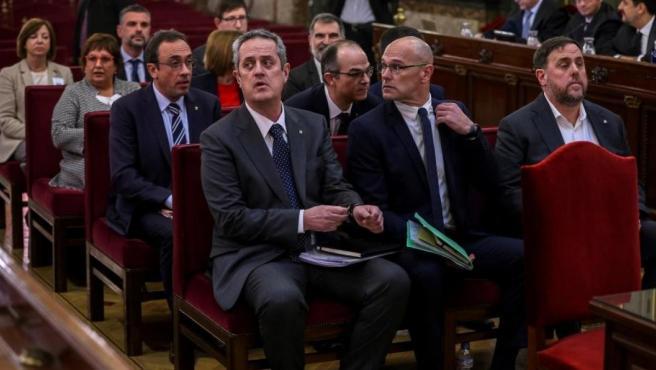 Los líderes independentistas, en el banquillo de los acusados.