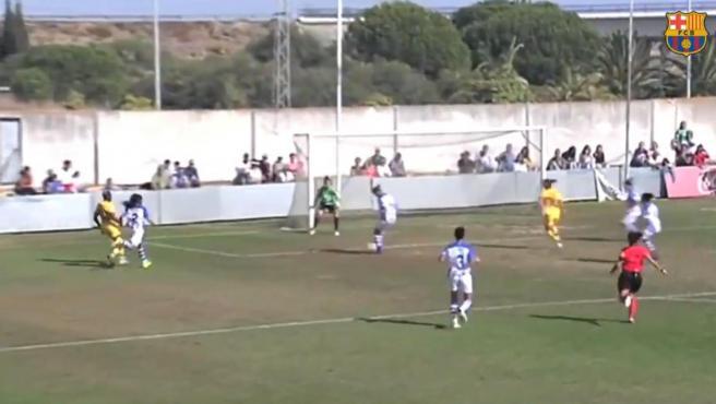 El estado del césped de la Ciudad Deportiva del Sporting de Huelva fue muy criticado por el Barcelona.