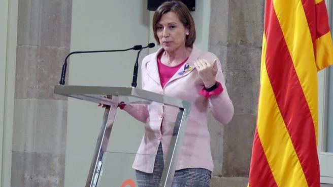 La expresidenta del Parlament Carme Forcadell.