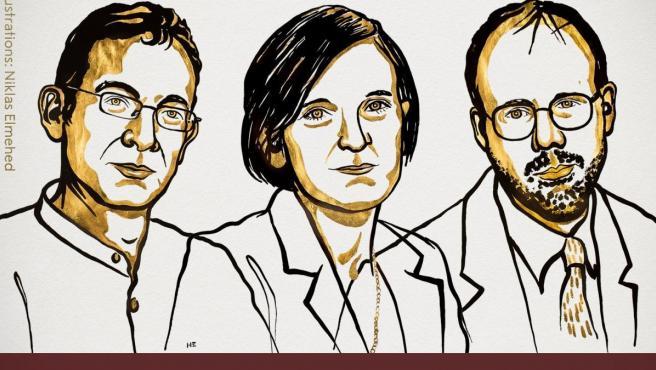 Banerjee, Duflo y Kremer, ganadores del Nobel de Economía 2019.