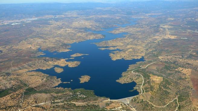Vista aérea de La Fernandina, en la provincia de Jaén.