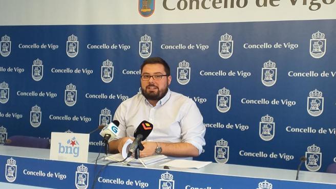 El concejal no adscrito (del BNG) en el Ayuntamiento de Vigo, Xabier Pérez Igrexas.