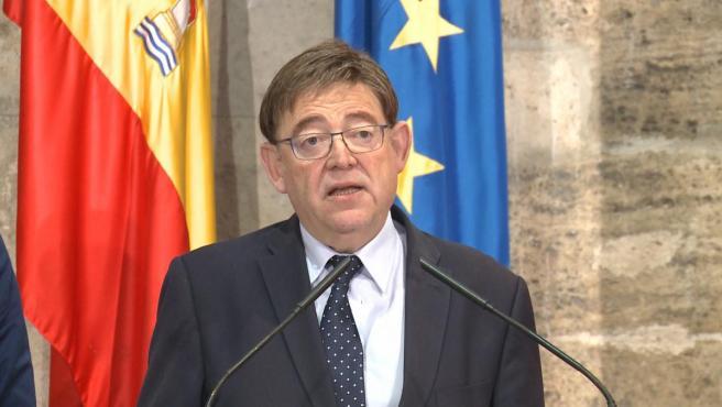 El presidente de la Generalitat valenciana, Ximo Puig, en imagen de archivo