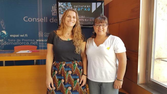 (I-D) La Representantes Del Consell De Mallorca, Maria Pastor Y Bel Busquets.