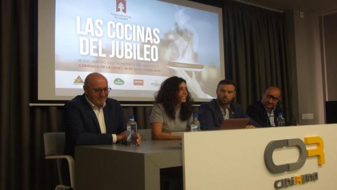 La consejera de Turismo, Juventud y Deportes, Cristina Sánchez, durante la presentación de 'Las Cocinas del Jubileo'